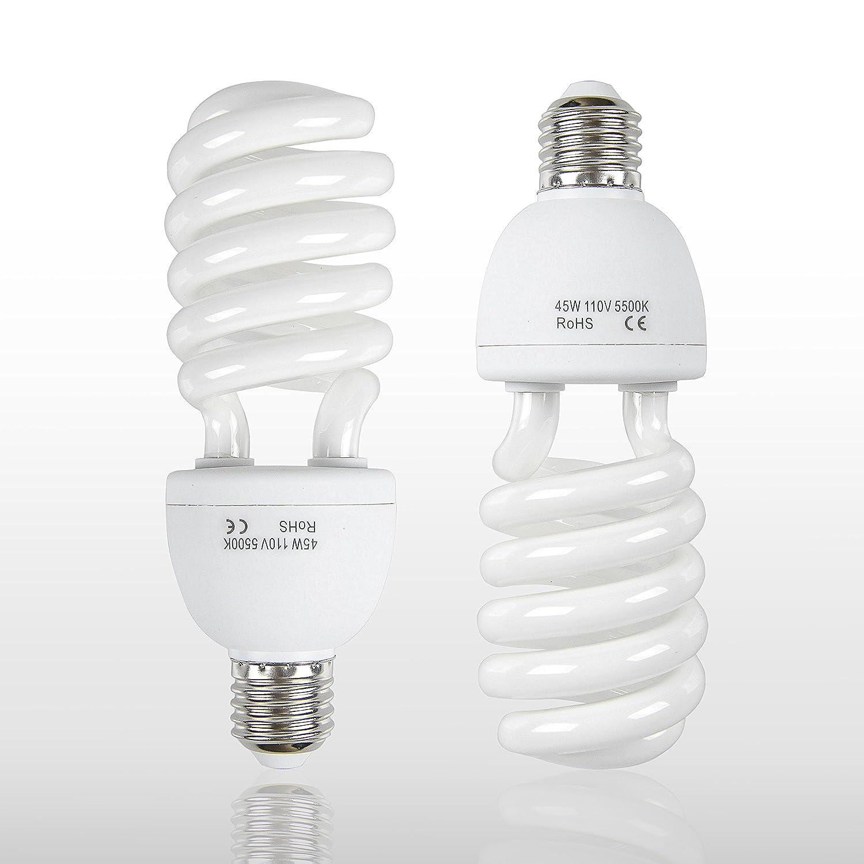 Emart Full Spectrum Light Bulb 2 X 45w 5500k Cfl Daylight