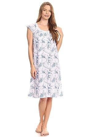 Pink Label 0077 Women Pajamas Night Gown Sleepwear Night Shirt (Blue a25998963