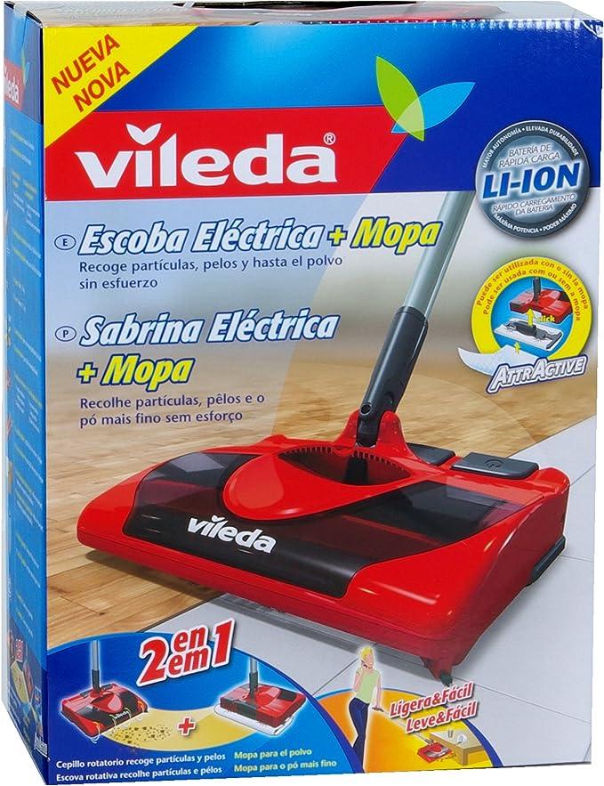 Vileda Cepillo Eléctrico - Escoba y mopa eléctrica inalámbrica para todo tipo de suelos: Amazon.es: Hogar