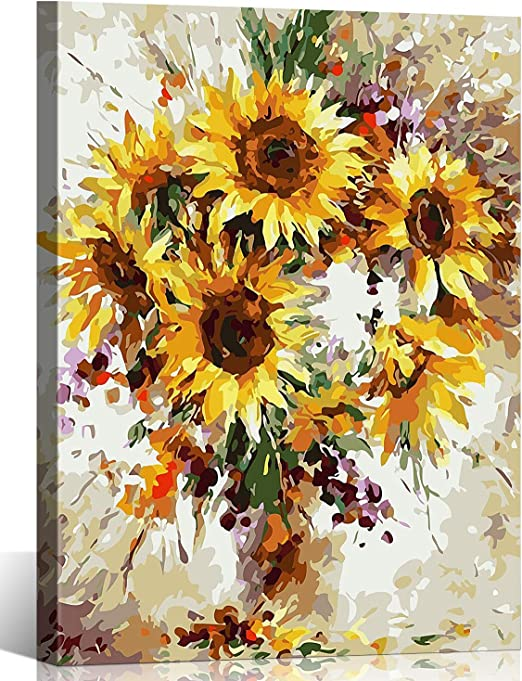 """16X20/"""" Beauty Butterfly Paint By Number Kit DIY Digital Painting on Canvas 521"""