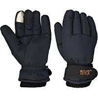 HIVER Men's and Women's Waterproof Teslon Gloves With Touchscreen, Winter Gloves, Snow gloves for minus degrees, Mens gloves & Womens gloves