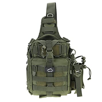 Just Military Tactical Chest Pack Fly Equipment Nylon Wading Chest Pack Cross Body Sling Single Shoulder Bag A Great Variety Of Goods Camping & Hiking