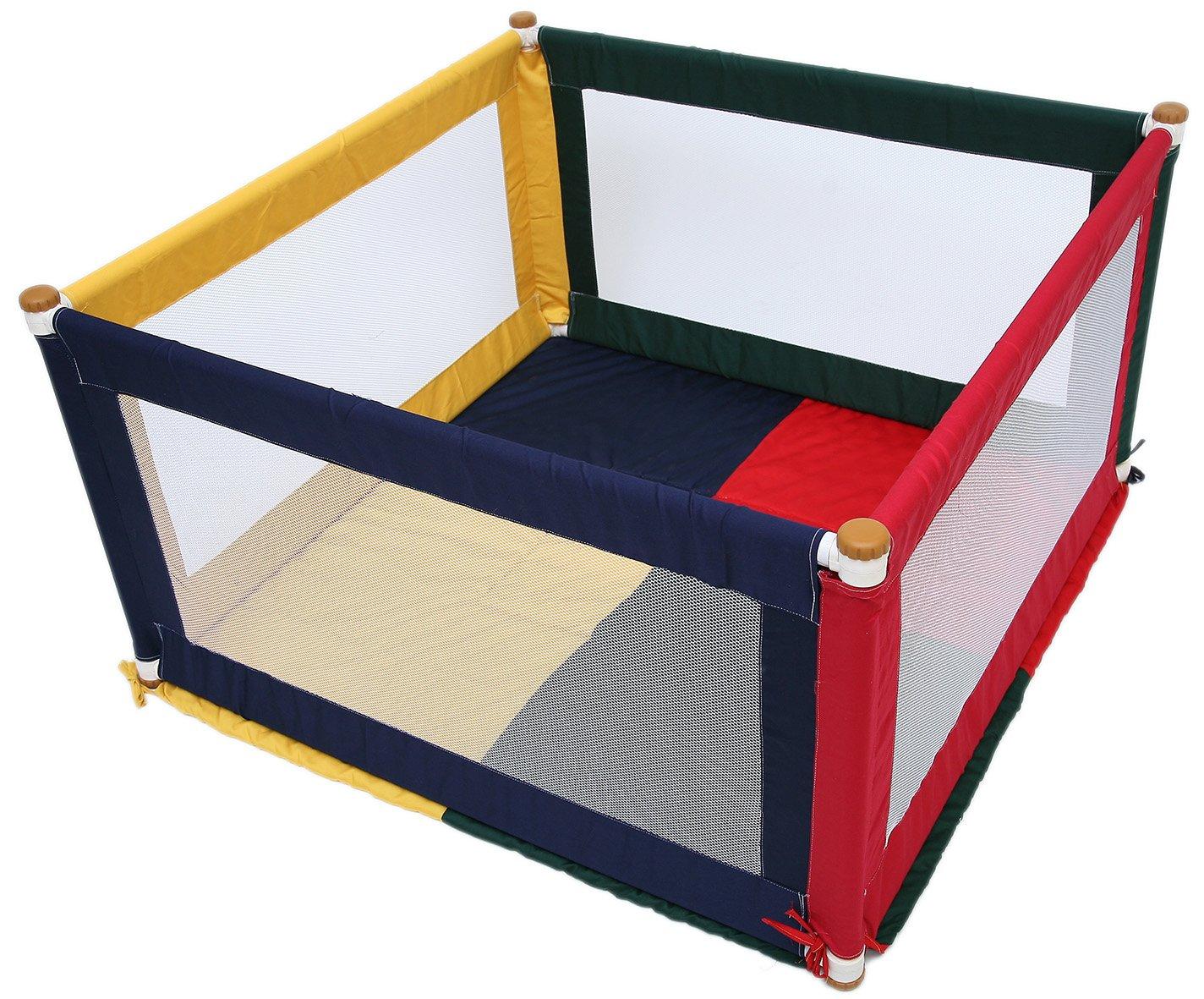 TikkTokk Pokano Fabric Playpen//Mat Square, Colourful