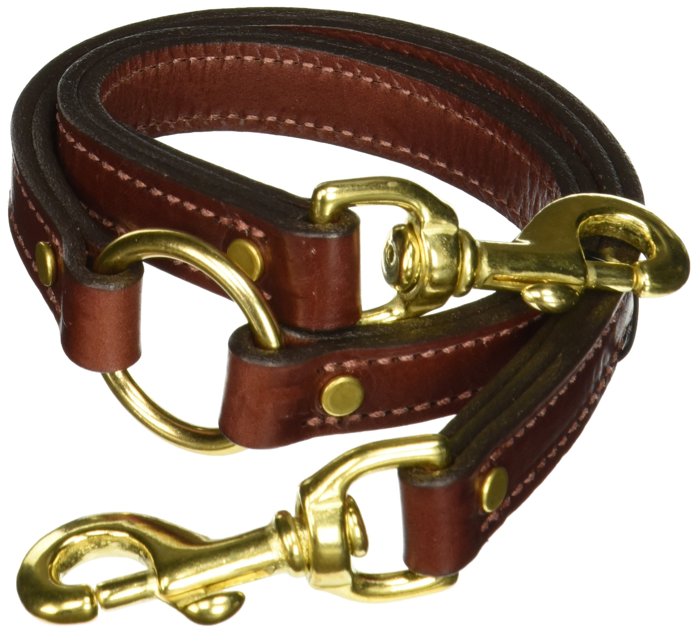 Mendota Products 10825 Pet Leather Two Dog Coupler Leash, 3/4'' x 25'', Chestnut