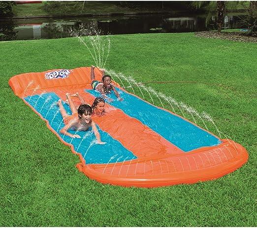 Lgan Tobogan Infantil Exterior Agua,De Gran Tamaño 550x210cm Tobogan para Piscina Verano Juguetes Jardin Agua Barriga Tobogan para Piscina Inchable: Amazon.es: Jardín