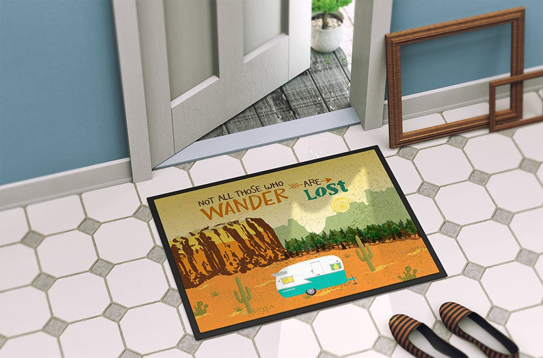 Multicolor 18 x 27 Carolines Treasures Welcome To the Trailer Indoor or Outdoor Doormat