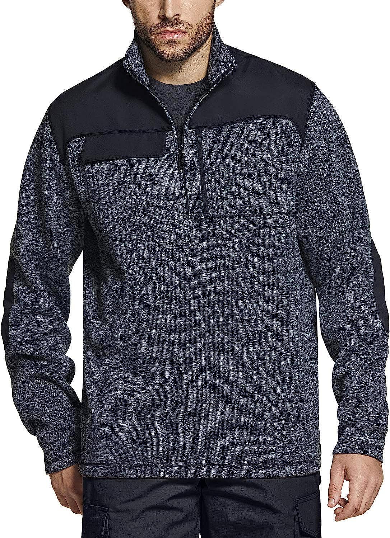 CQR Men's Thermal Fleece Half Zip Pullover, Winter Outdoor Warm Sweater, Lightweight Long Sleeve Sweatshirt