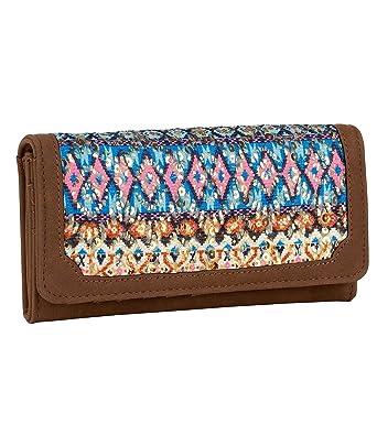 SIX U0026quot;Herbst Braunes Portemonnaie Im Bunten Ethno Design, Blau, Rosa,