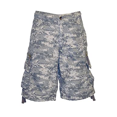 8b96ac80f1 Molecule Men's Regular Fit Zipped Railers Camo Cargo Shorts - Lightweight  Cotton | USA 29""
