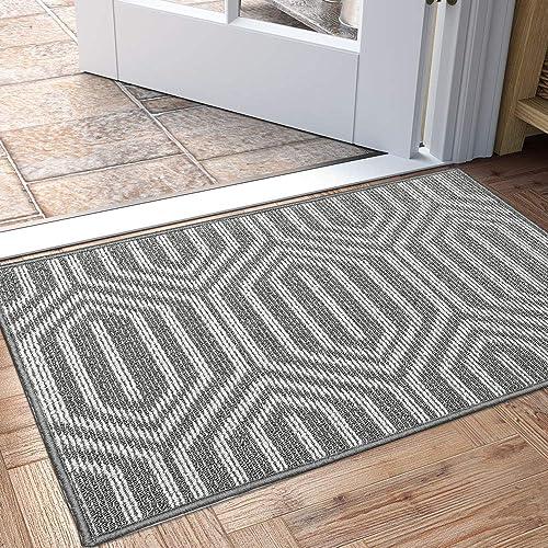DEXI Indoor Doormat, Non Slip Absorbent Resist Dirt Entrance Rug, 32 x48 Large Size Machine Washable Low-Profile Inside Floor Door Mat