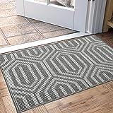 """DEXI Indoor Doormat, Non Slip Absorbent Resist Dirt Entrance Rug, 32""""x48"""" Large Size Machine Washable Low-Profile Inside Floor Door Mat"""