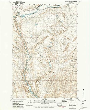 Palouse Falls Washington Map.Amazon Com Yellowmaps Palouse Falls Wa Topo Map 1 24000 Scale