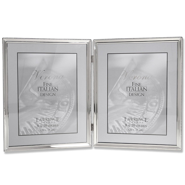 Amazoncom Lawrence Frames Polished Silver Plate 8x10 Hinged