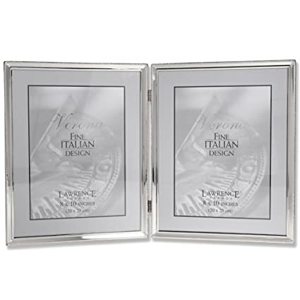 Amazoncom Lawrence Frames Polished Silver Plate 8x10 Hinged