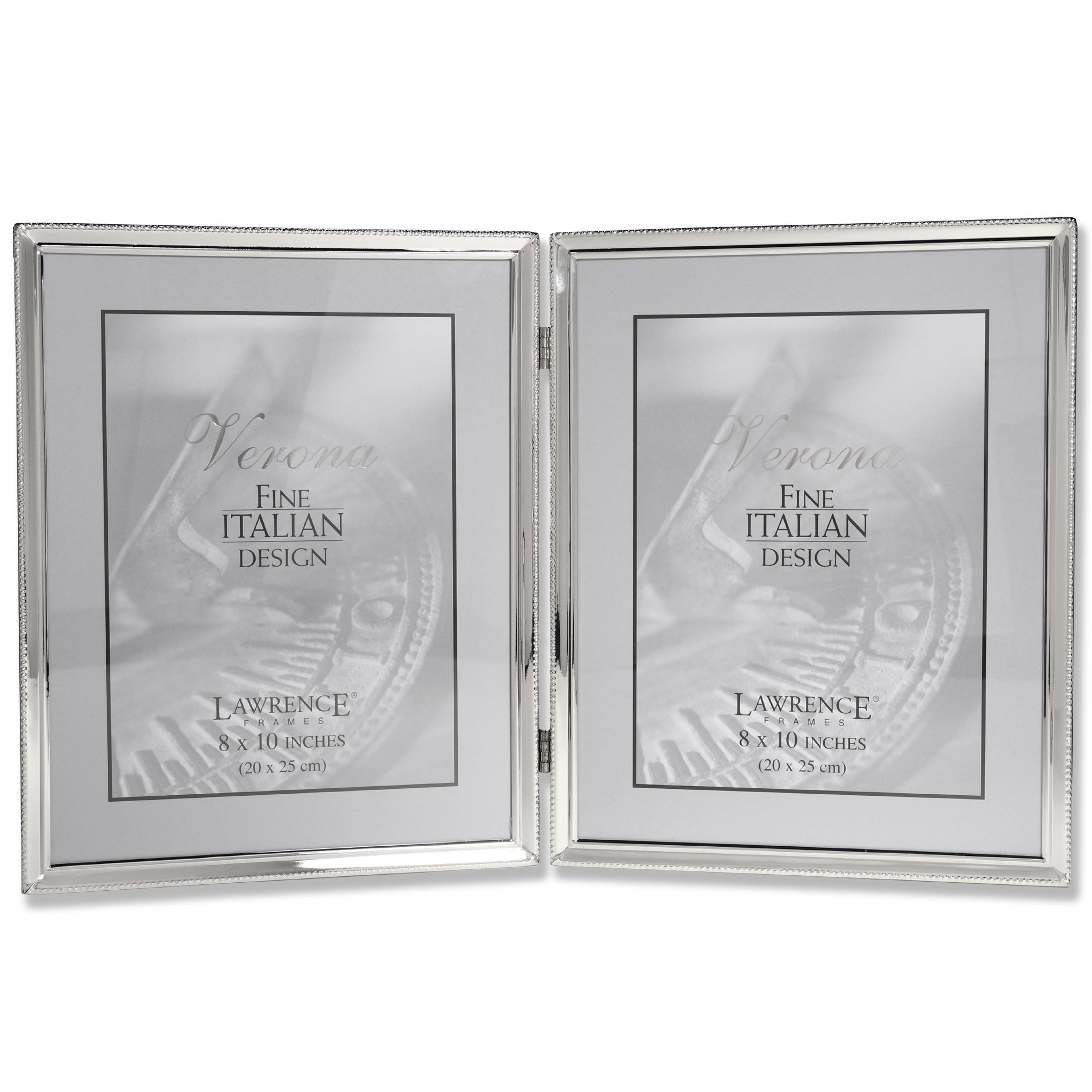 Lawrence Frames Polished Silver Plate 8x10 Hinged Double Picture ...