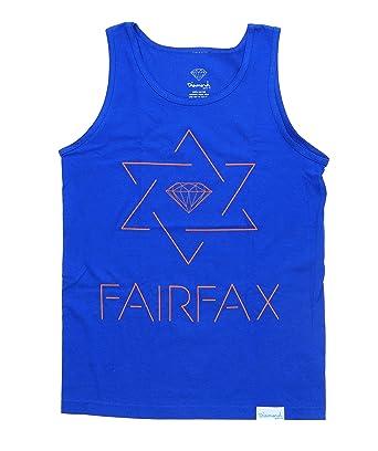 43a8ef74a70bd9 Amazon.com  Diamond Supply Co Men s Star of Fairfax Tank Top-Royal ...