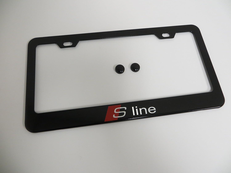 1 Stück S Line Schwarz Metall Nummernschild Rahmen audisport mit ...