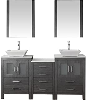 Virtu USA KD 70066 S ZG Modern 66 Inch Double Sink BathroomVirtu USA KD 70066 WM ZG Modern 66 Inch Double Sink Bathroom  . 66 Double Sink Vanity. Home Design Ideas