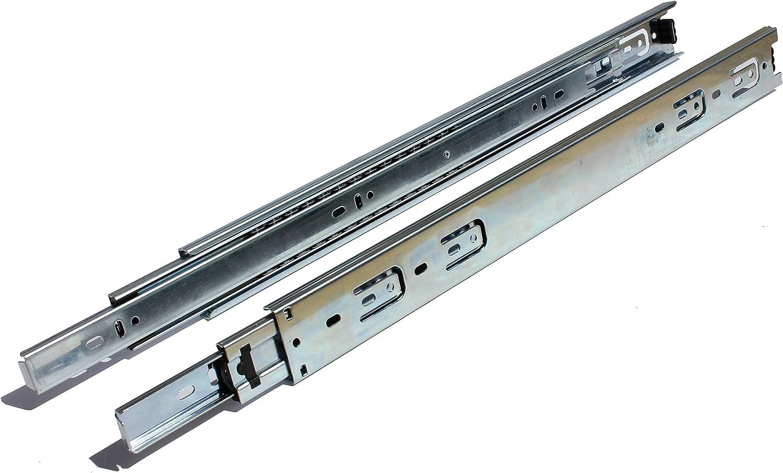 GlideRite Hardware 2270-ZC-10 22 inch 100 lb 1 inch 10 Pack 22