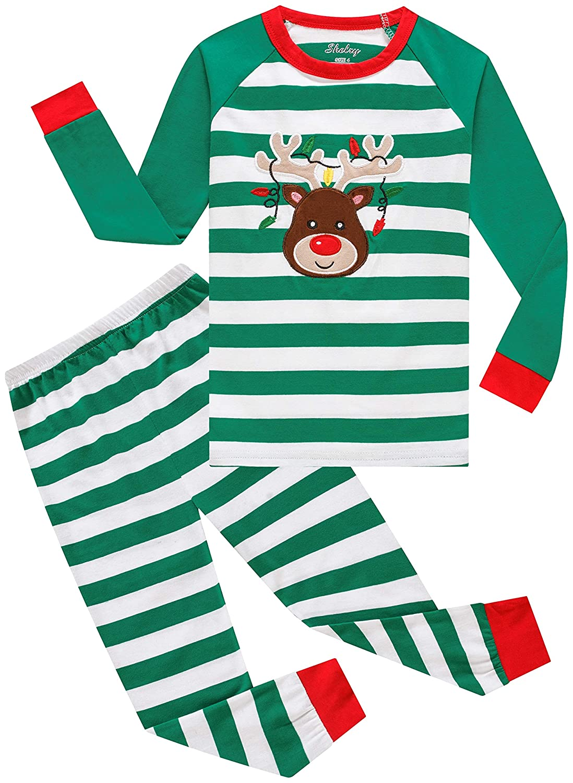 shelry Boys Christmas Pajamas Children Cotton Clothes Kids Pjs Pants Set