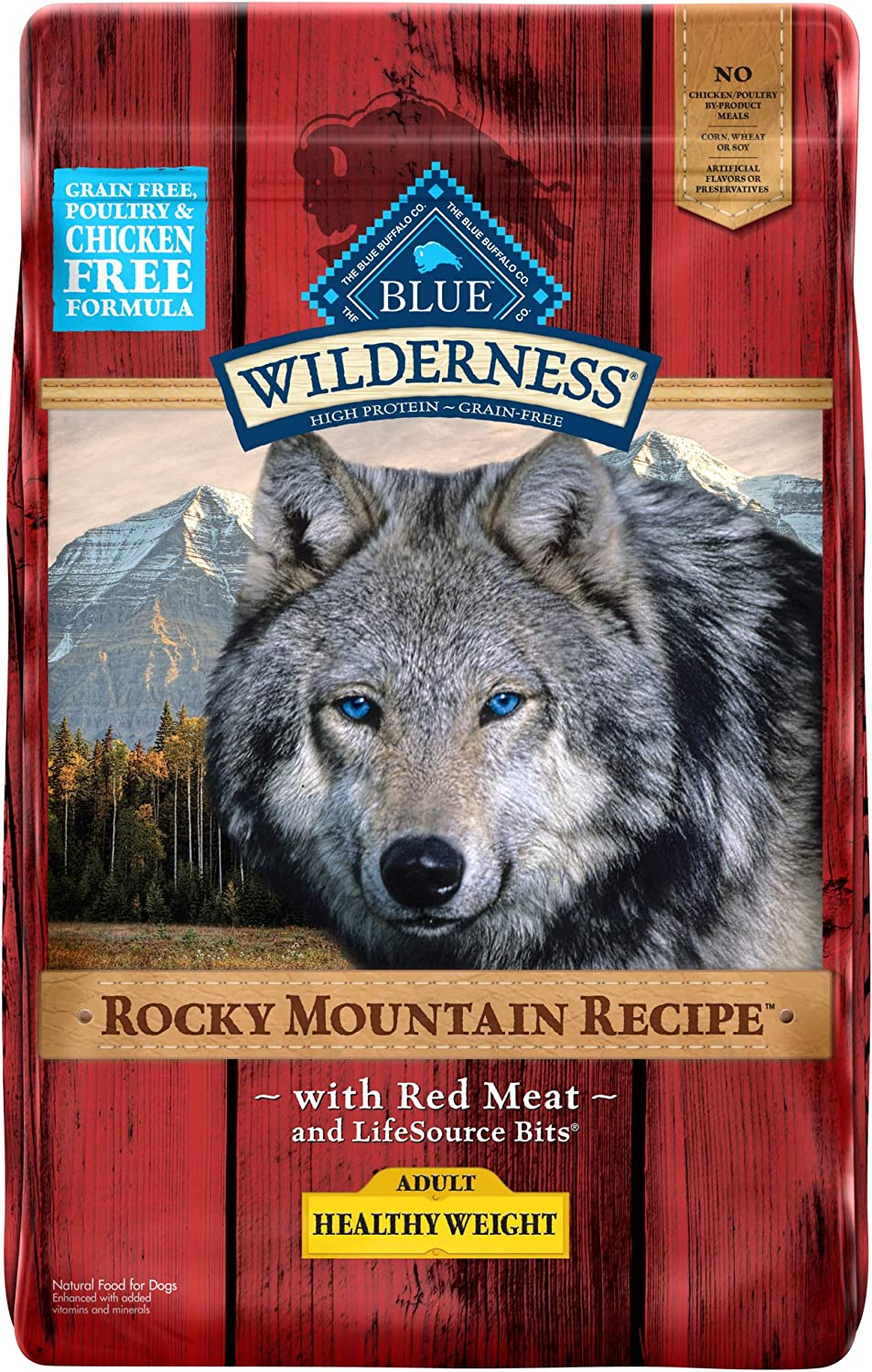 Blue Buffalo Wilderness Rocky Mountain Recipe High Protein Grain Free, Natural Adult Healthy Weight Dry Dog Food