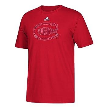 38f18bda11 adidas NHL Men's Montreal Canadiens Velocity Long Sleeve Tee