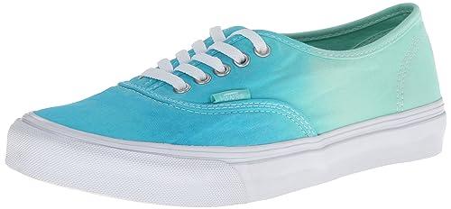 c029c11e09fa Vans Women s Authentic Slim (Ombre Cloisonne Icy Green) Women s Shoes