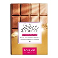 Bourjois Delice De Poudre Bronzer 55 Highlighter + Universal Tan, Packaging May Vary
