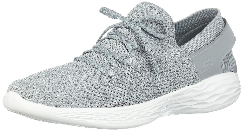 Skechers Women's You-14960 Sneaker B071K7PFCW 5.5 B(M) US|Gray/White