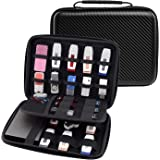 Ropch USB Flash Drive Case / Hard Drive Carrying Case Bag Waterproof Electronic Accessories Organizer Holder Pouch - (Medium, Black)