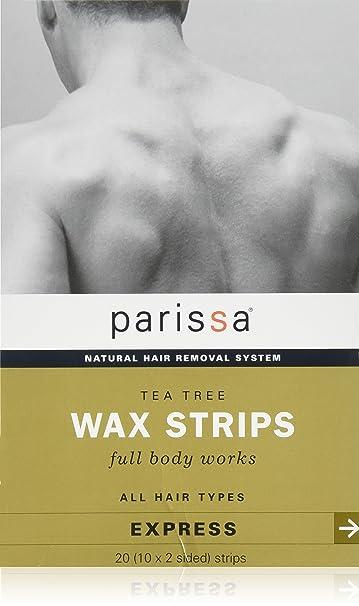 Men's Tea Tree Wax Strips 20 Count