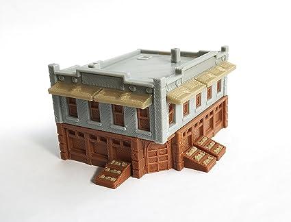 9af1b4a5c386 Outland Models Train Railroad City Grocery Store / Shop (Corner) N Scale  1:160