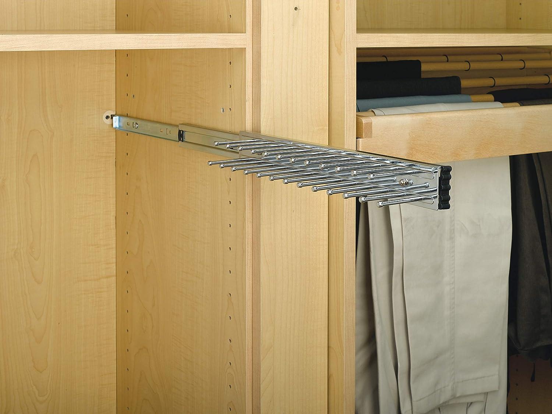 Rev-A-Shelf 12 in Oil Rubbed Bronze Side Mount Tie Rack Steel,