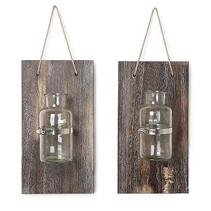 Amazon.com: CALIFORNIA CADE ELECTRONIC Mason Jars-Rustic Wall Decor ...