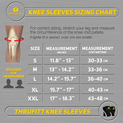 Thru Fitt Knee Sleeves sizing