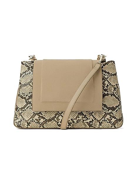 2297715373f8 Amazon.com: Zara Women Animal print crossbody bag with leather flap ...