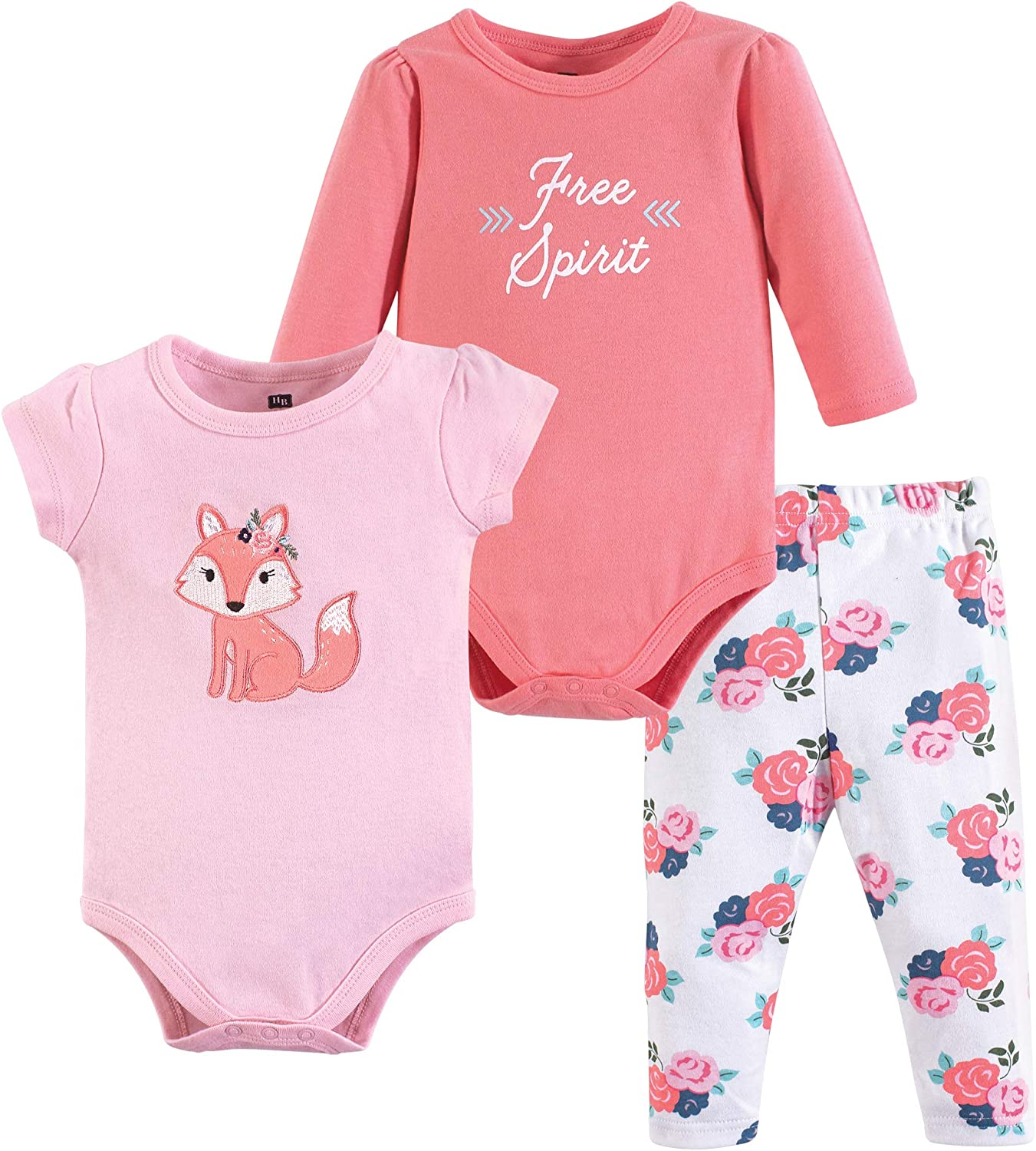 Hudson Baby Baby Cotton Bodysuit and Pant Set