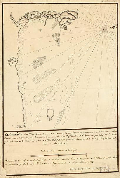 Map Poster - El Guarico alias el cavo Frances es una de las colonias y puertos