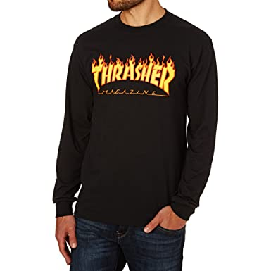 Amazon.com  Thrasher Flame Long Sleeve T-Shirt  Clothing fd493683ece6