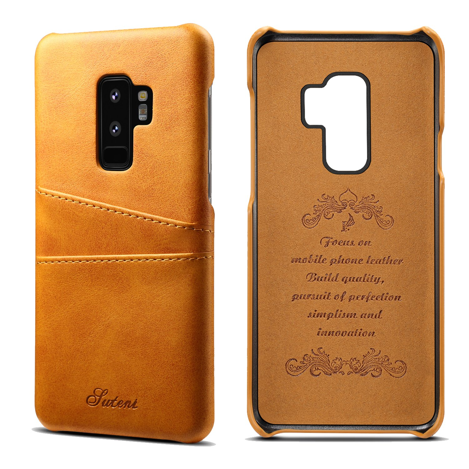 Galaxy S9 Plus Case, Synthetic Leather Wallet Case Slim Cover with 2 Card Slots S9P-XNCK-XR-BK