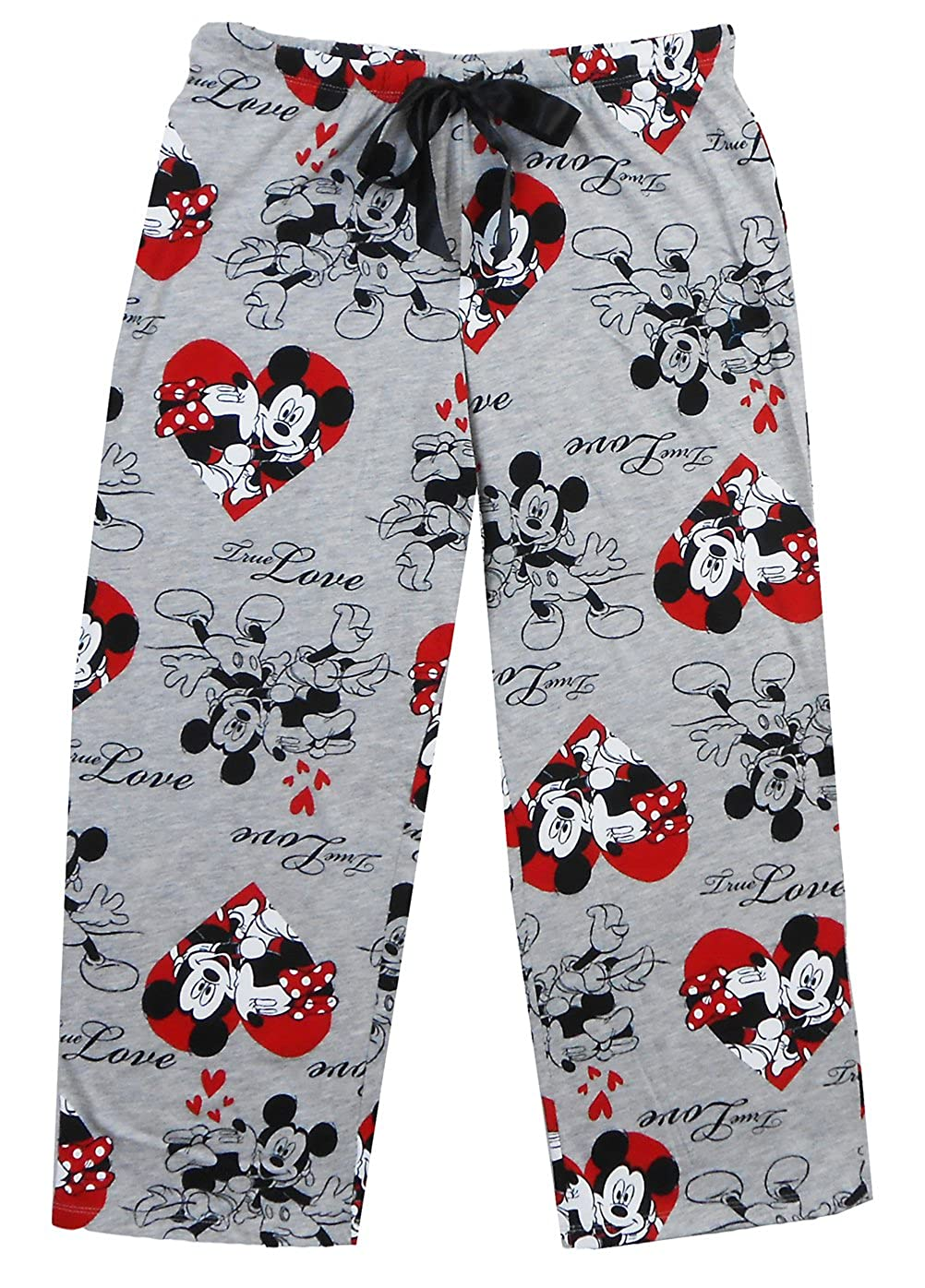 4f501eefbcf0 Disney Juniors Mickey and Minnie Mouse True Love Pajama Pant Grey Small at  Amazon Women's Clothing store: