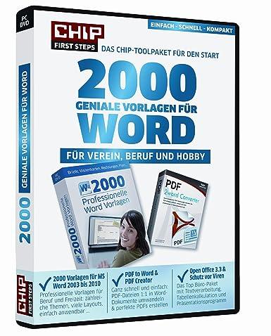 Chip 2000 Geniale Vorlagen Für Word Für Verein Beruf Und