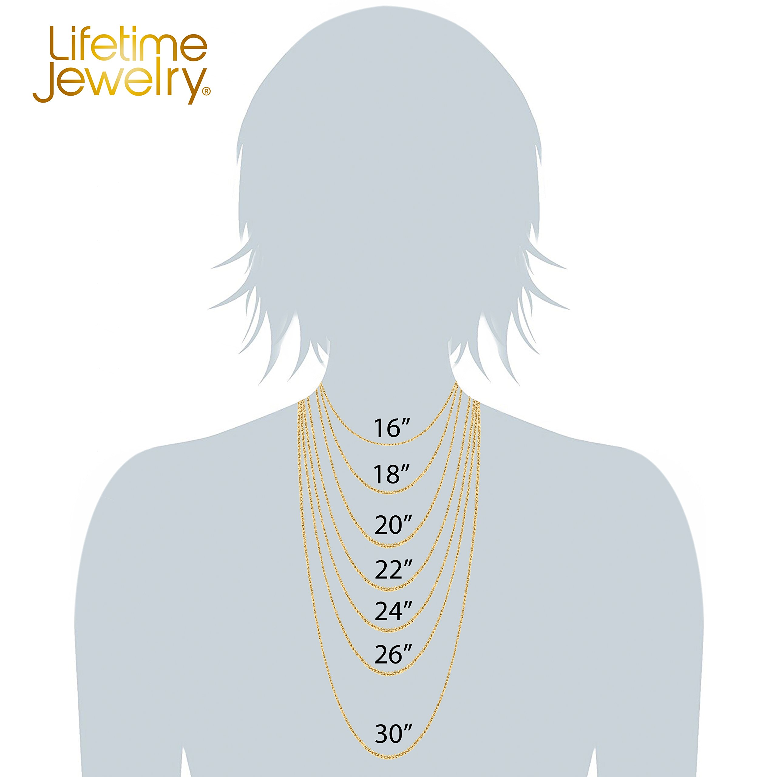 Lifetime Jewelry 1mm Rope Chain 24K White or Yellow Gold Plated Pendant Necklace for Men and Women Made Thin for Charms 16 to 30 Inches (22) by Lifetime Jewelry (Image #6)