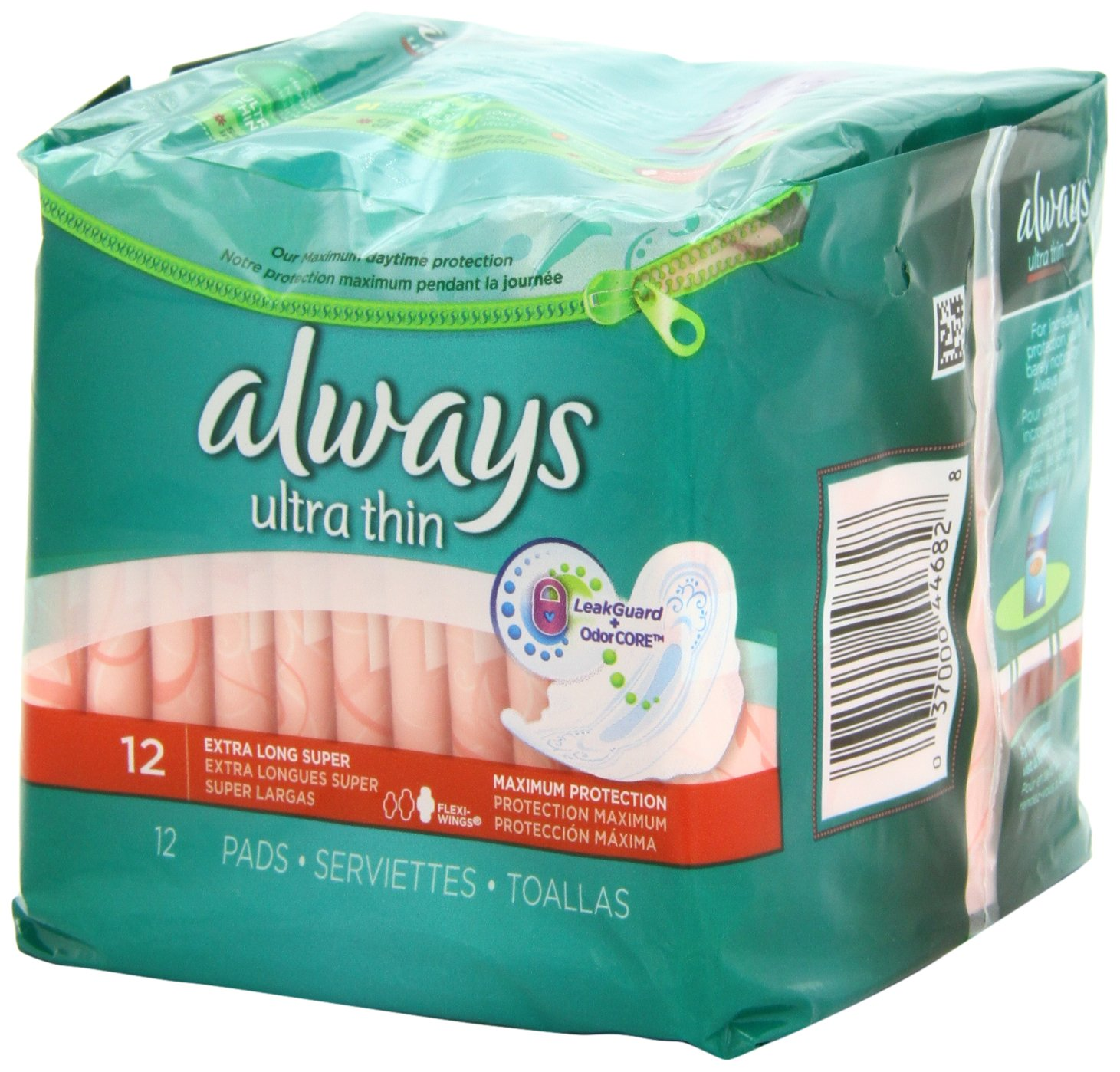 Amazon.com: Always Ultra Thin Feminine Pads with Wings, Maximum Protection, Unscented, 12 Count: Health & Personal Care