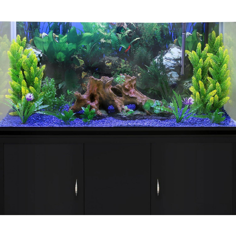 MonsterShop - Acuario 300 litros con Mueble Negro y Grava Azul 143cm x 120cm x 39cm: Amazon.es: Hogar