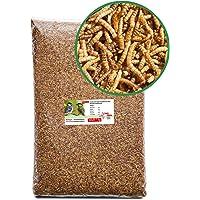 Paul´s Mühle Mehlwürmer getrocknet, Proteinreiche Würmer für Hühner, Igel, Hamster, Teichfische und Vögel