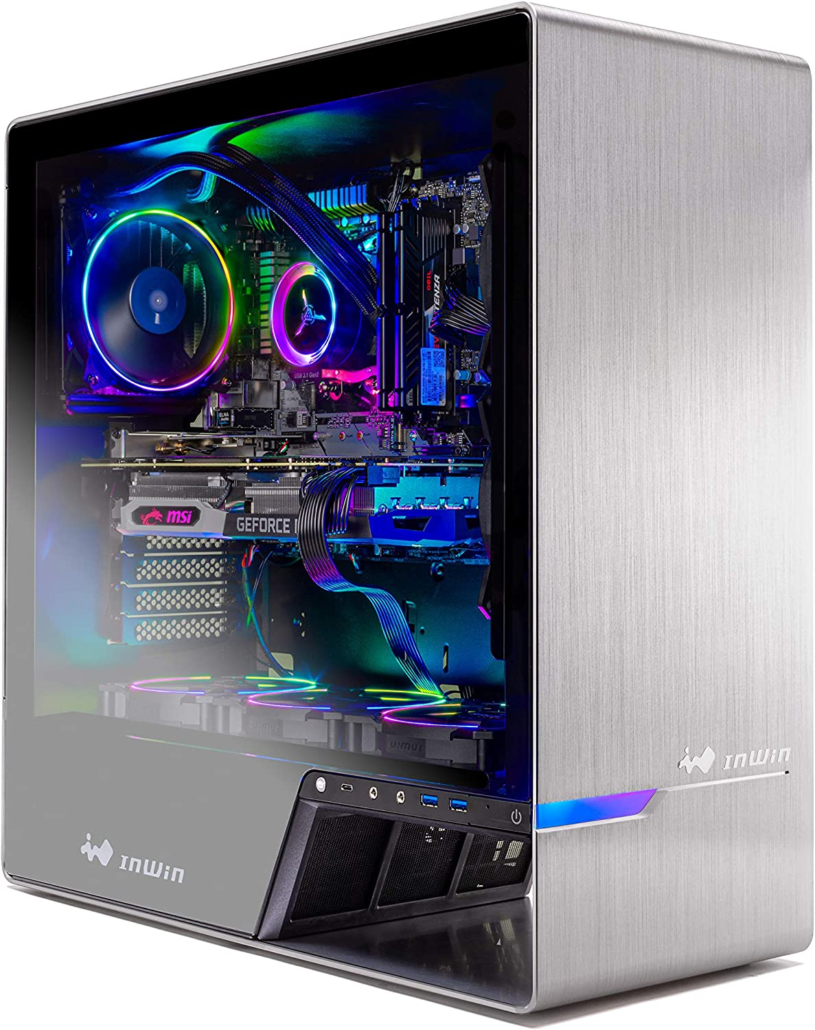 Skytech Legacy Gaming Computer PC Desktop Ryzen 7 3700X 3.6GHz, RTX 2070 Super 8G, 500GB SSD, 16GB DDR4 3000MHz, RGB Fans, Windows 10 Home 64-bit, 120mm AIO Cooler, 802.11AC Wi-Fi
