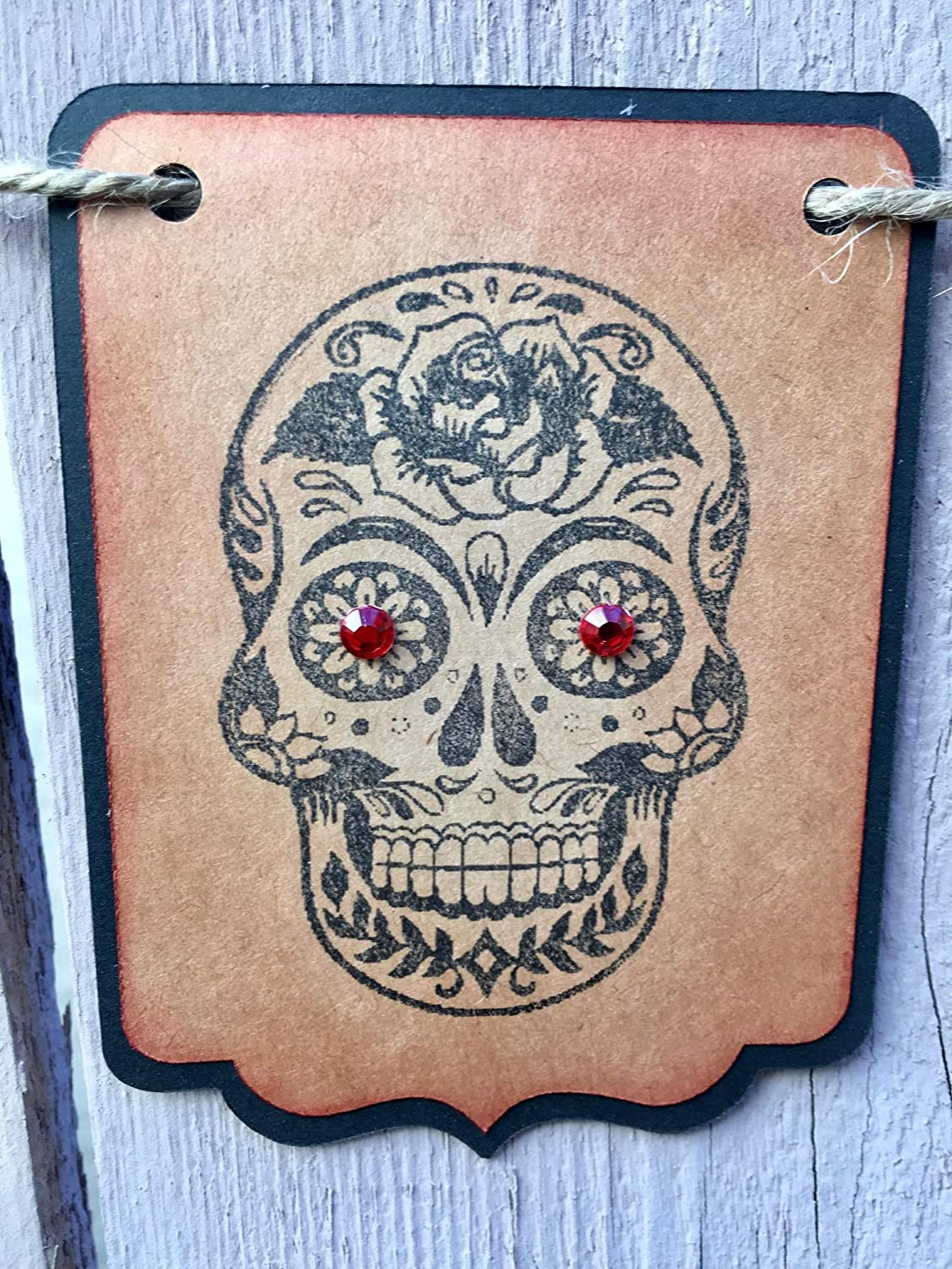 Sugar Skull Day of the Dead Hanging Garland Banner Decoration