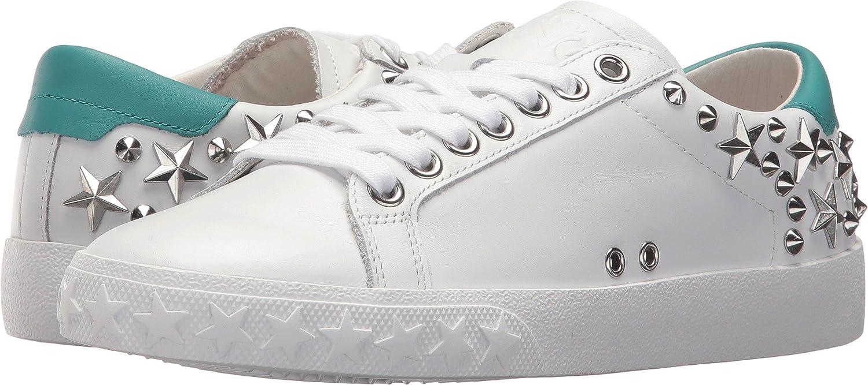 Ash Women's AS-Dazed Sneaker B079P72DSZ 38 M EU|White/Turquoise Nappa Calf/Nappa