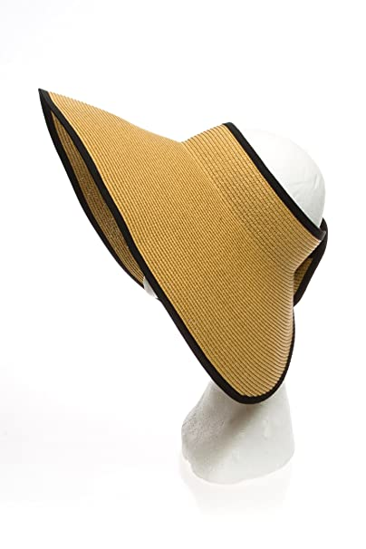 Amazon.com  Extra Large Wide Brim Straw Sun Visor a87d5fa35ff